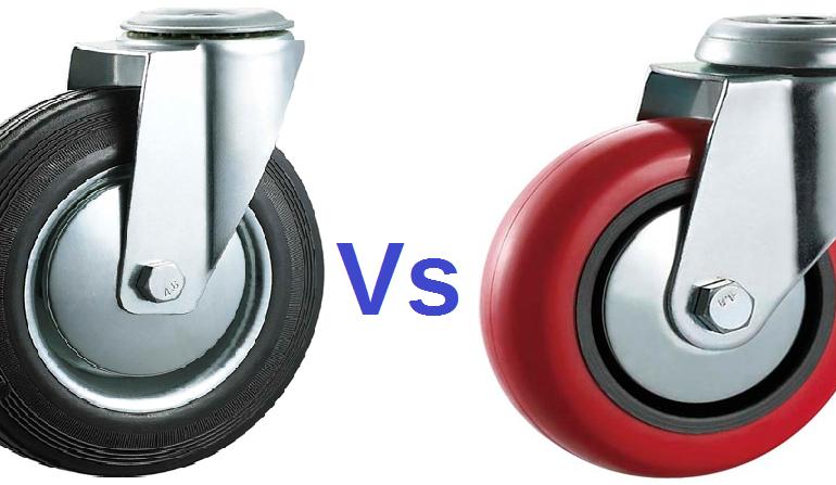 rubber castors vs polyurethane castors