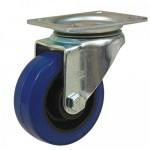 HEAVY DUTY - 100mm Swivel Top Plate Blue Elastic - Max. 250Kg