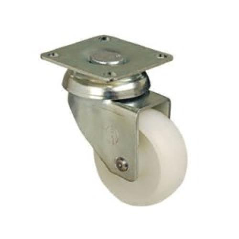 75mm Swivel Top Plate Nylon Castor - Max. 55Kg