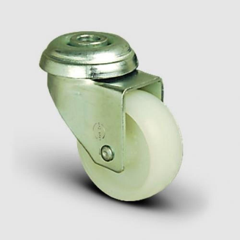 75mm Swivel Bolt Hole Nylon Castor - Max. 55Kg
