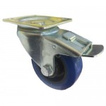 HEAVY DUTY - 100mm Swivel (Braked) Top Plate Blue Elastic - Max. 250Kg