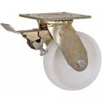 100mm Swivel Top Plate Nylon Castor (Braked) - Max. 600Kg (HEAVY DUTY FABRICATED)