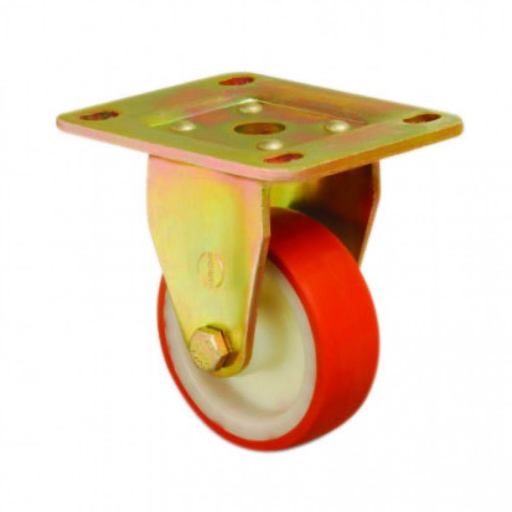 EXTRA HEAVY DUTY - 200mm Fixed Polyurethane Tread Castor - Max. 750Kg