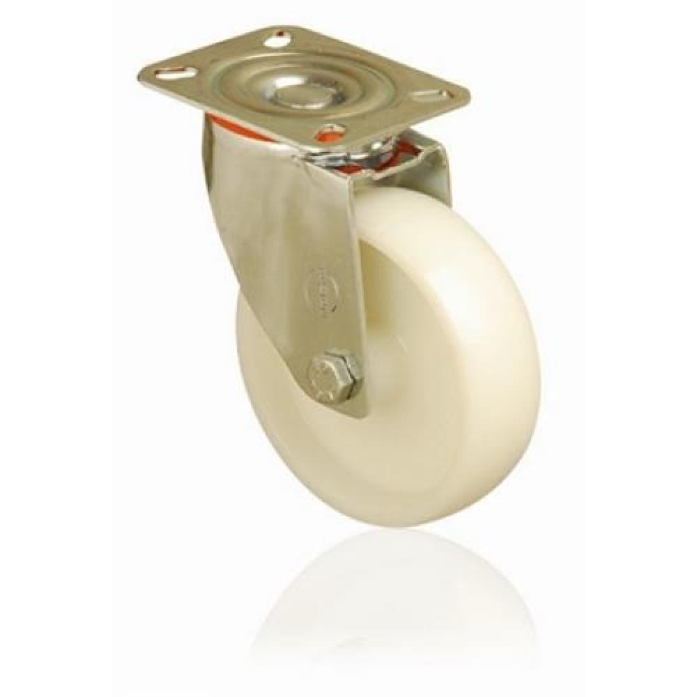 80mm Swivel Top Plate Nylon Castor - Max. 120Kg