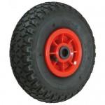 400mm Diameter Black Pneumatic Wheel - Max 200KG