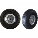 """Pneumatic Wheel 10"""" Inch (260mm Diameter) with offset hub - Max 136Kg"""