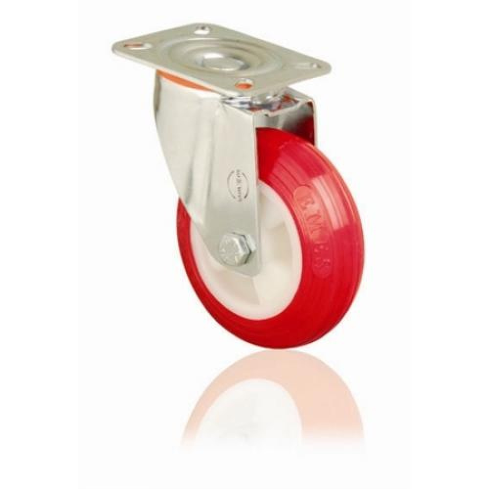 125mm Swivel Top Plate Polyurethane Castor - Max. 160Kg