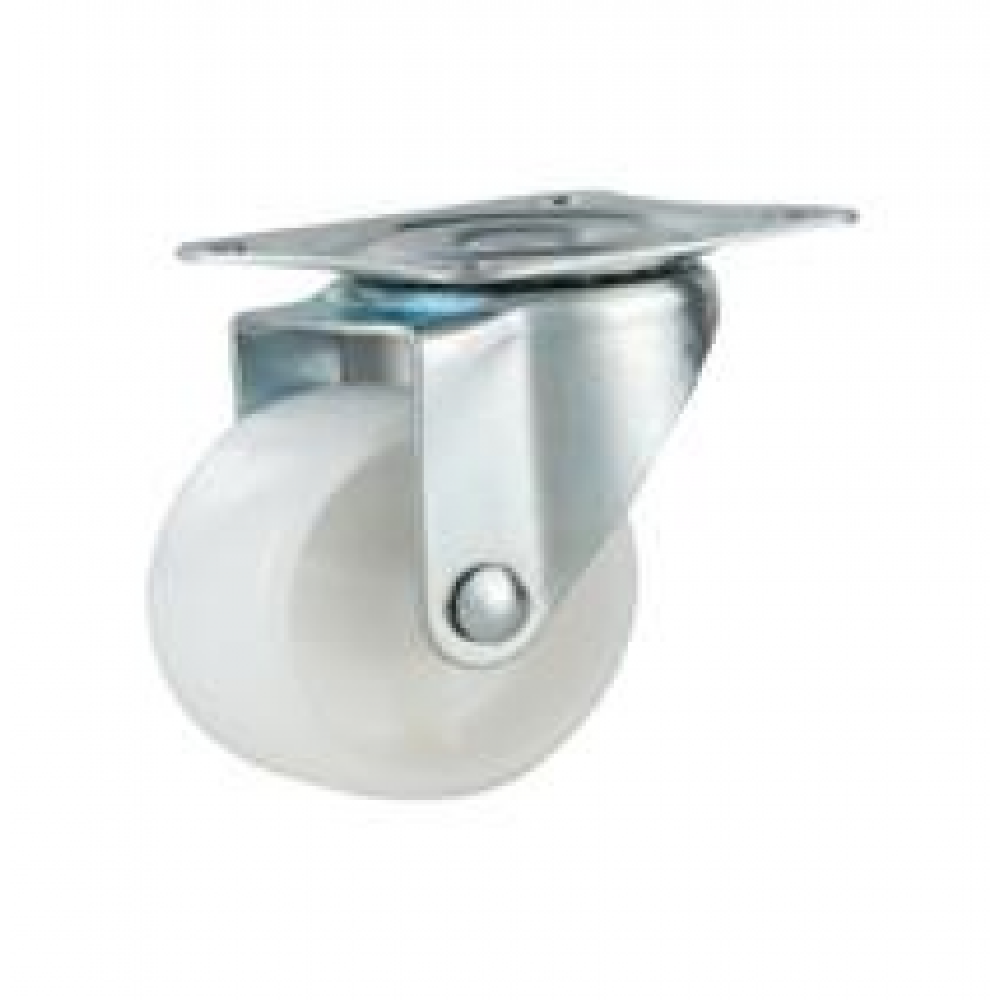 REDUCED!!! - 32mm Swivel Top Plate Mini Nylon Castor - Max. 16Kg