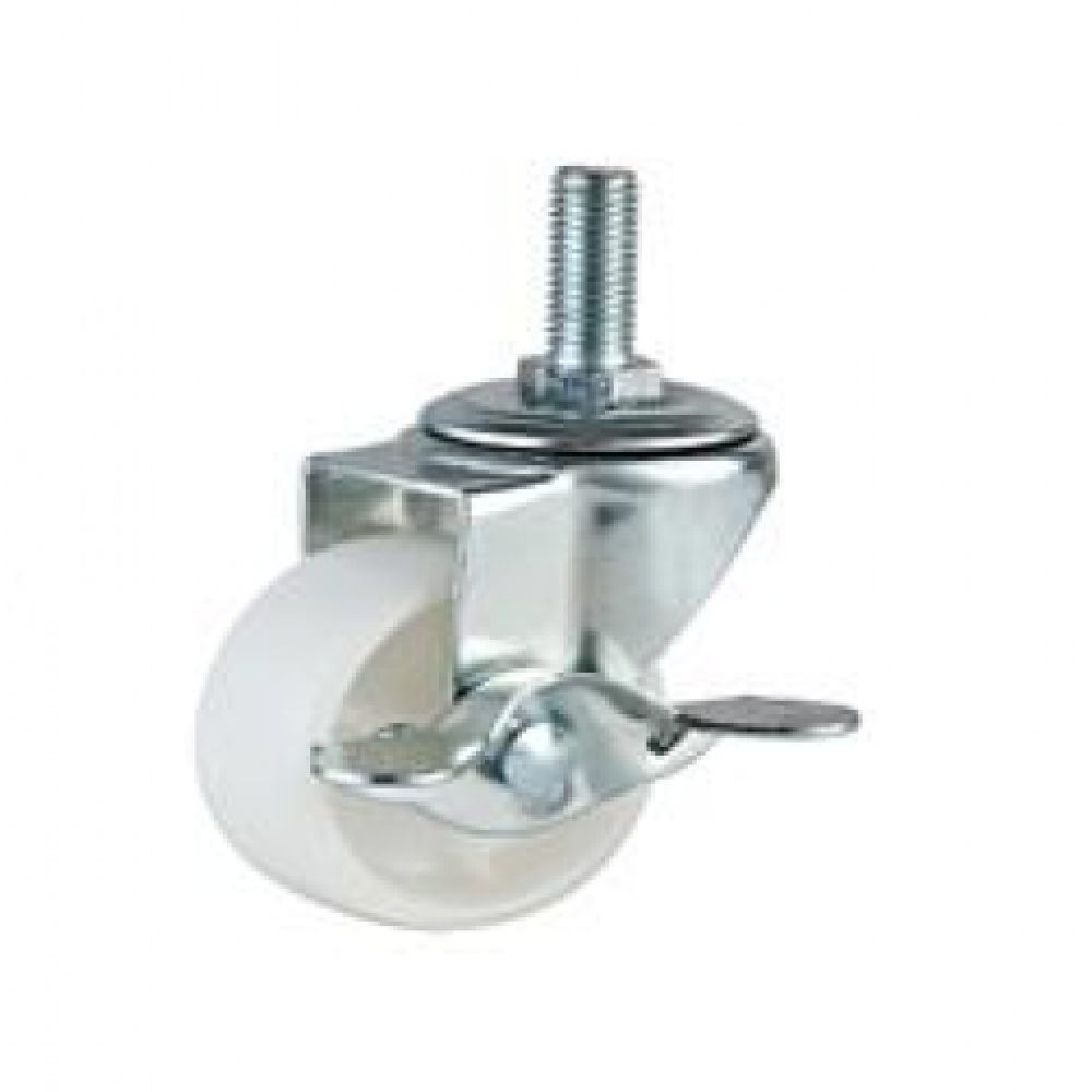 REDUCED!!! - 50mm Swivel (Single M12 Stud) Nylon (Braked) Castors - Max. 30Kg