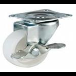 REDUCED!!! - 40mm Swivel Top Plate Nylon Castor (Braked) - Max. 20Kg