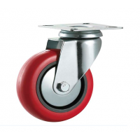 125mm Polyurethane Casters - Swivel Top Plate - Max. 140Kg