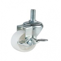 REDUCED!!! - 40mm Nylon Swivel Castor with Single M10 Stud (Braked) - Max. 20Kg